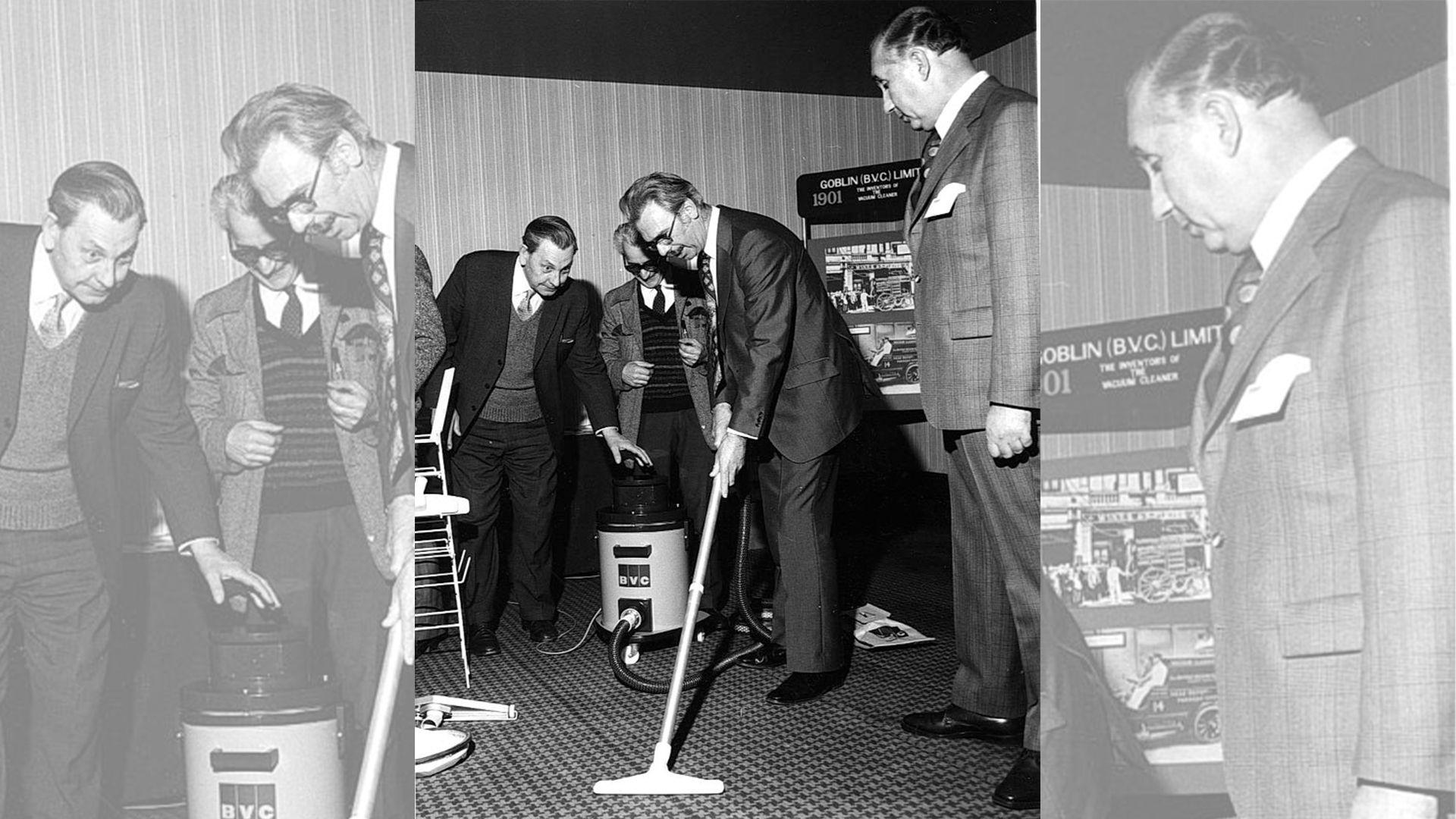 Vacuum Evaluation by, left-right: Ted Evans, Jack O'Sullivan and Brian Lovett, observed by John Totman.